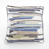 線條平織抱枕45x45cm 藍