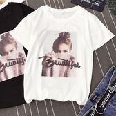 短袖T恤短袖t恤女夏裝2018韓版ulzzang寬鬆半袖體恤學生chic港味上衣 曼莎時尚