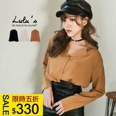 LULUS特價-Y小翻領素面襯衫-3色  現+預【01032239】
