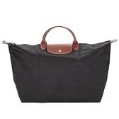 【南紡購物中心】LONGCHAMP LE PLIAGE短把手提旅行袋(大/黑)