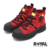 Palladium RE-CRAFT 熔岩紅 黑底 有機再生帆布靴 男女款 NO.B2207【新竹皇家 77194-614】