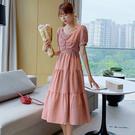 方領格子連身裙洋裝(2色S~XL)*OR...