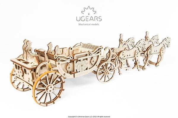 Ugears 皇家馬車 Royal carriage集資網好評 KICKSTARTER 敞薘馬車 哈里王子與他的新娘梅根