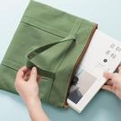A4手拎文件袋學生手提袋文件袋A4補課包補習袋補習包公文包女文件袋書袋收納包文具袋資料袋