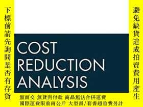二手書博民逛書店Cost罕見Reduction AnalysisY256260 Steven M. Bragg John Wi