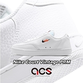 Nike 休閒鞋 Wmns Court Vintage PRM 白 橘 女鞋 男鞋 小勾勾 皮革鞋面 運動鞋 【ACS】 CW1067-100
