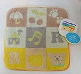 日本製 彩虹熊 毛巾 方巾 20x20 純棉 海渡 2款分售