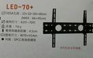 """《鉦泰生活館》(NB ITW-S3 液晶電視螢幕壁掛架,適用42-70"""""""