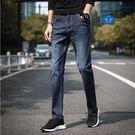 經典潮流刷白爪紋造型百搭休閒直筒牛仔褲