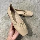 2020新款女鞋夏季單鞋淺口方頭百搭奶奶鞋軟底舒適平底瓢鞋豆豆鞋 衣櫥秘密