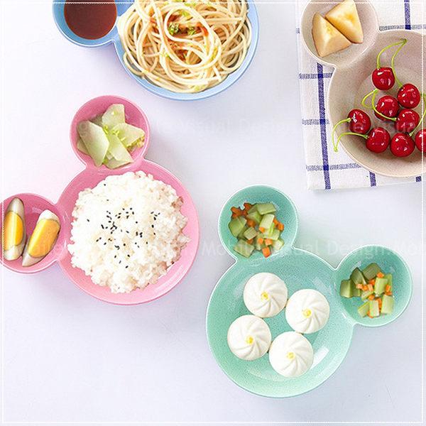 小麥桔梗米奇兒童分隔餐盤-- 兒童造型餐盤 寶寶餐盤 早餐盤 水果盤子 沙拉盤