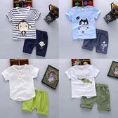 童裝夏裝男童2019新款女寶寶嬰兒童衣服短袖套裝0-1-2-3-4-5歲