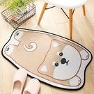 吸水踏墊 加厚動物卡通造型彈性 防滑 止滑 地墊踏墊 吸水腳踏墊 門墊止滑墊腳踏墊 (柴犬)