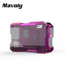 【Mavoly 松聖】ZC-01M 葡萄罐兒 鋁質鋼化玻璃電腦機殼 (紫色)
