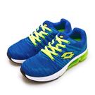 LIKA夢 LOTTO 專業飛織避震氣墊慢跑鞋 SUPER LITE系列 藍螢綠 1615 女