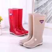雨鞋女士高筒雨靴春秋長筒中筒水靴防滑膠鞋時尚水鞋 歐韓流行館