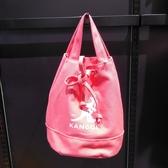 KANGOL 袋鼠粉紅肩背側背包-NO.6925300741