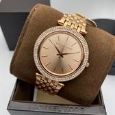 星晴錶業-MK邁克科爾斯女錶,編號MK3192,38mm玫瑰金錶殼,玫瑰金色錶帶款