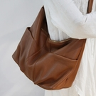 真皮側背包-柔軟牛皮大容量純色女斜背包4色74af15[巴黎精品]