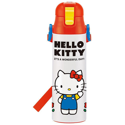 《SKATER》HELLO KITTY超輕量不鏽鋼直飲水壺-580ml(70年代)★funbox生活用品★_S31906