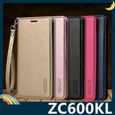 ASUS ZenFone 5Q ZC600KL Hanman保護套 皮革側翻皮套 隱形磁扣 簡易防水 帶掛繩 支架 插卡 手機套 手機殼