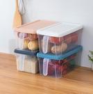 冰箱收納盒 抽屜式透明廚房日式食品儲物盒密封帶蓋手柄雞蛋保鮮盒【快速出貨八折鉅惠】