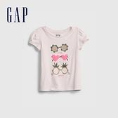 Gap女幼童 布萊納系列 童趣印花泡泡袖T恤 677877-淺粉色