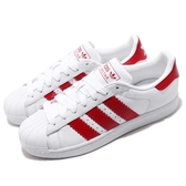 adidas 休閒鞋 Superstar 白 紅 男鞋 女鞋 寬版LOGO 基本款 運動鞋【PUMP306】 BD7370