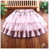蕾絲大小女童短裙半身裙蝴蝶寶寶蛋糕兒童紗裙新款蓬蓬裙童裝