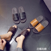 牛皮涼拖鞋家用男士室內防滑軟底居家家居舒適防臭透氣女夏季『艾麗花園』