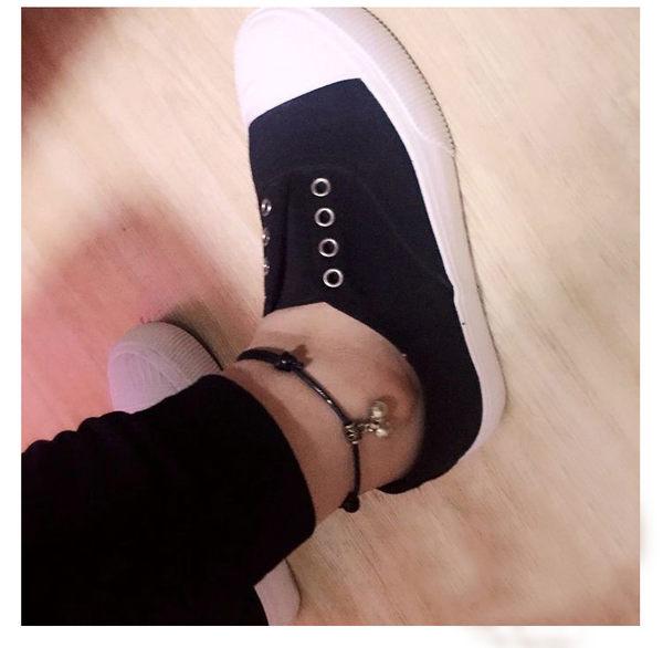 黑色好物節 星座男腳鍊女韓版簡約學生森系紅繩鈴鐺腳繩時尚黑色復古腳鐲腳環