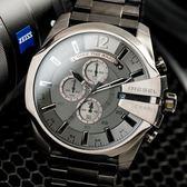 DIESEL TIMEFRAMES 不鏽鋼粗曠風度三眼腕錶 DZ4282 熱賣中!