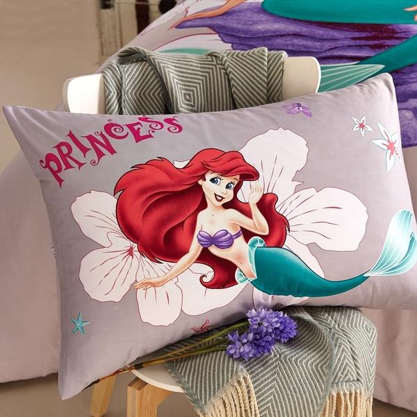 標準雙人床包組 迪士尼床包 小美人魚 愛麗兒 Ariel 灰 卡通床包 公主床包 床包訂製 Disney授權 佛你