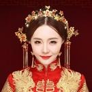 限定款新品(免運)新娘造型頭飾古風髮飾秀禾服飾品古典龍鳳褂配飾結婚中式鳳冠