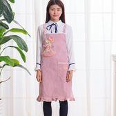 田園可愛卡通蕾絲創意圍裙均碼無袖時尚圍裙