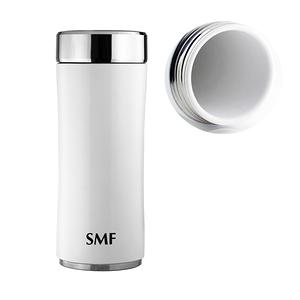 SMF鋅時尚骨瓷保溫杯350ml-鮮乳白 ❤贈SMF專用帆布束口