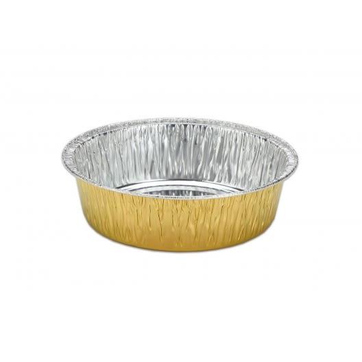 (含蓋)10入 金色鋁箔 602 鋁箔容器 烘烤盒 錫箔盒 烤模 蛋糕模 火鍋 菜頭粿 蘿蔔糕