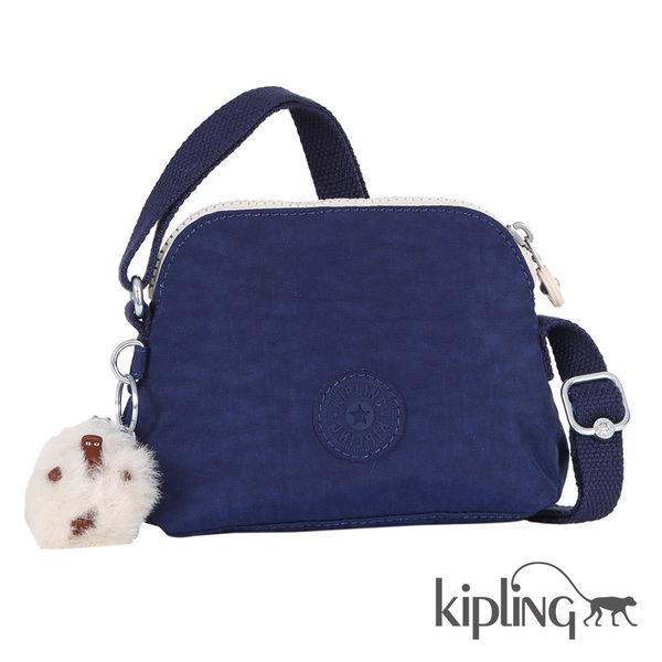 Kipling 藍寶石素面側背包-小