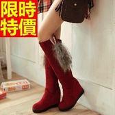 雪靴-加絨保暖高筒坡跟女長靴3色64aa37[巴黎精品]