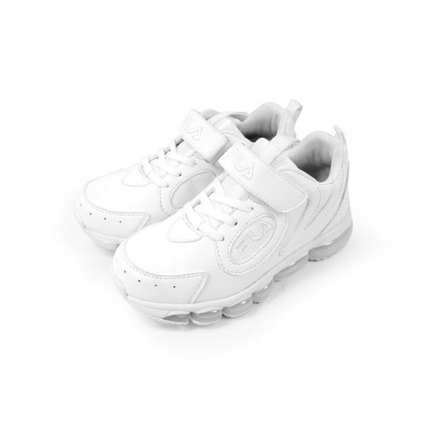 《FILA》兒童 氣墊慢跑鞋 白 3-J814U-111