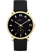Marc Jacobs Baker 國際舞台小秒針手錶-黑x金/36mm MBM1269