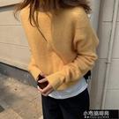 寬鬆圓領柔軟馬海毛羊毛針織衫 Z11101   【全館免運】