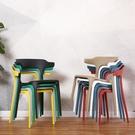 椅子塑料椅成人加厚家用餐椅靠背椅子北歐創...