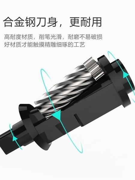 動捲筆刀自動削筆器多功能鑽筆刀