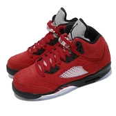 Nike 籃球鞋 Air Jordan 5 Retro Raging Bull 紅 黑 五代 復刻 喬丹 女鞋 AJ5 【ACS】 440888-600