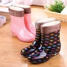 時尚加絨雨鞋女成人韓版保暖短筒可愛防滑水鞋中筒可拆卸雨靴秋冬·樂享生活館