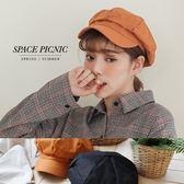 報童帽 Space Picnic|預購.英倫素面報童帽【C18073009】