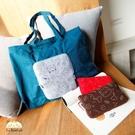 收納購物袋~雅瑪小鋪日系貓咪包 啵啵貓摺疊環保購物袋/側背包/拼布包包