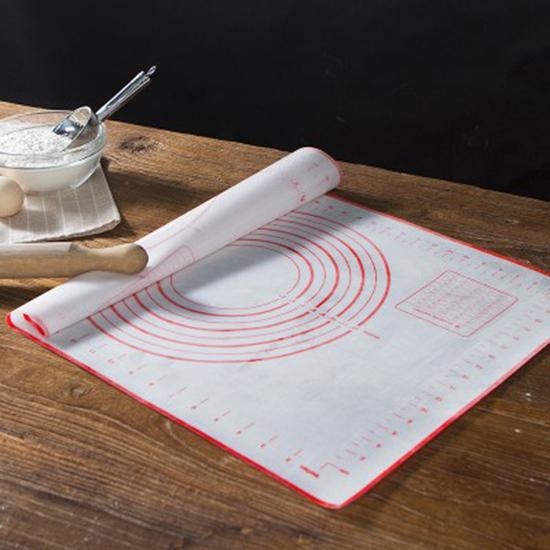帶刻度矽膠揉麵墊 擀麵墊 和麵 矽膠墊 烘焙 工具 麵包 案板 麵食【P255】MY COLOR