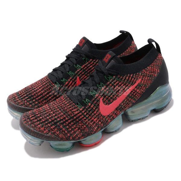 Nike 慢跑鞋 Air VaporMax Flyknit 3 黑 紅 綠 男鞋 China Hoop Dreams 【PUMP306】 CK0733-080